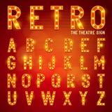 Retro Lightbulb Alphabet Stock Image