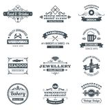 Retro Logo Set Royalty Free Stock Photos