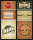 Retro Logos Stock Photo