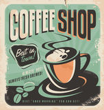 Retro poster for coffee shop Stock Images