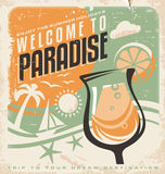 Retro poster template for travel agency Royalty Free Stock Photography