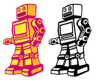 Retro robot Royalty Free Stock Images
