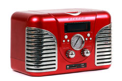 Retro- roter Radio Stockfotos