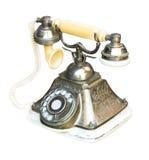 Retro telefonmetall Royaltyfri Fotografi
