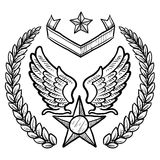 Retro US Air Force Insignia with Wreath Royalty Free Stock Photos