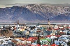 Reykjavik stad Royalty-vrije Stock Foto's