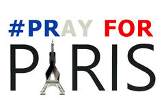 Rezar para o conceito de Paris Fotos de Stock