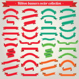 Ribbon Banners Vector Collection Royalty Free Stock Photography
