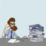 Riesige Mengen Informationen sind Bedarf zu erforschen Lizenzfreies Stockfoto