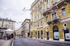 RIJEKA ,CROATIA - MARCH 02:main  street during the carnival parade in Rijeka, Croatia on March Stock Image