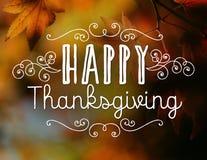 Ringraziamento felice Fotografia Stock