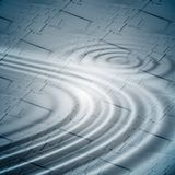 Ripples over keyboards background Stock Photography