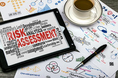 Risk assessment word cloud Stock Photography