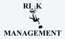 Risk Management Man Falling Illustration Royalty Free Stock Photo
