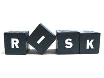 Risk spelled out Stock Photo