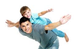 Ritratto felice del padre e del figlio Immagini Stock