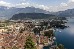 Riva del Garda by Garda Lake Stock Image