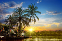 River and beautiful sunrise Royalty Free Stock Photography