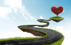 The road to Heart tree Royalty Free Stock Image