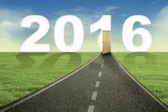 Road toward new year of 2016 Stock Photo