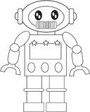 Robot coloring page Royalty Free Stock Photo
