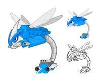Robot Dragonfly Cartoon Character Royalty Free Stock Photo