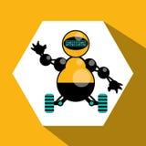 Robot et conception de technologie Image stock