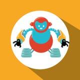 Robot et conception de technologie Images stock
