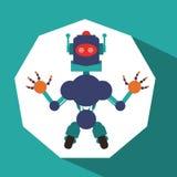Robot et conception de technologie Photographie stock libre de droits