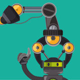 Robot et conception de technologie Photos libres de droits