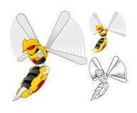 Robot Wasp Cartoon Character Royalty Free Stock Photography