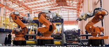 Robots het lassen Royalty-vrije Stock Foto's