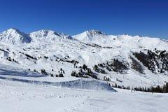 Roche de Mio, Winter landscape in the ski resort of La Plagne, France Stock Photography