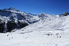 Roche de Mio, Winter landscape in the ski resort of La Plagne, France Stock Image