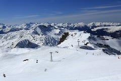 Roche de Mio, Winter landscape in the ski resort of La Plagne, France Royalty Free Stock Photo