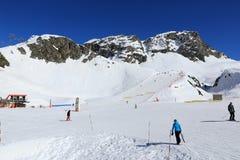 Roche de Mio, Winter landscape in the ski resort of La Plagne, France Stock Photo