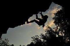 Rock climbing in Ukraine Royalty Free Stock Photography