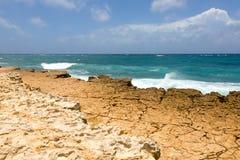 Rocky Limestone Atlantic Coastline at Half Moon Bay Stock Photo