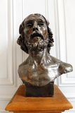 Rodin Museum Sculpture head bust Royalty Free Stock Photography