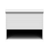 Roller shutter garage door Royalty Free Stock Images