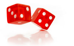 Rolling dice Stock Image