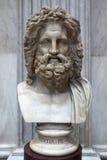 Roman marble bust of Zeus Royalty Free Stock Photos