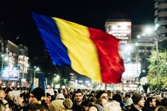 Romania protests Royalty Free Stock Photo