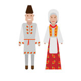Romanian national costume Stock Photos