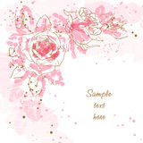 Romantic  background with roses Royalty Free Stock Photography