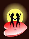 Romantic dance Royalty Free Stock Photography