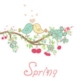 Romantic spring card Stock Photography