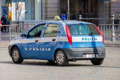 Rome - MARCH 21, 2014: Police Car on March 21 in Royalty Free Stock Images