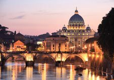 Rome at Night Royalty Free Stock Photo