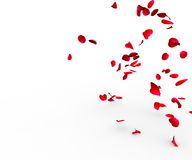 Rose petals falling on a surface Royalty Free Stock Photos
